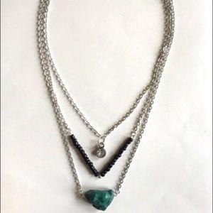 Jewelry - Long & Layered Boho Stone Pendant Necklace